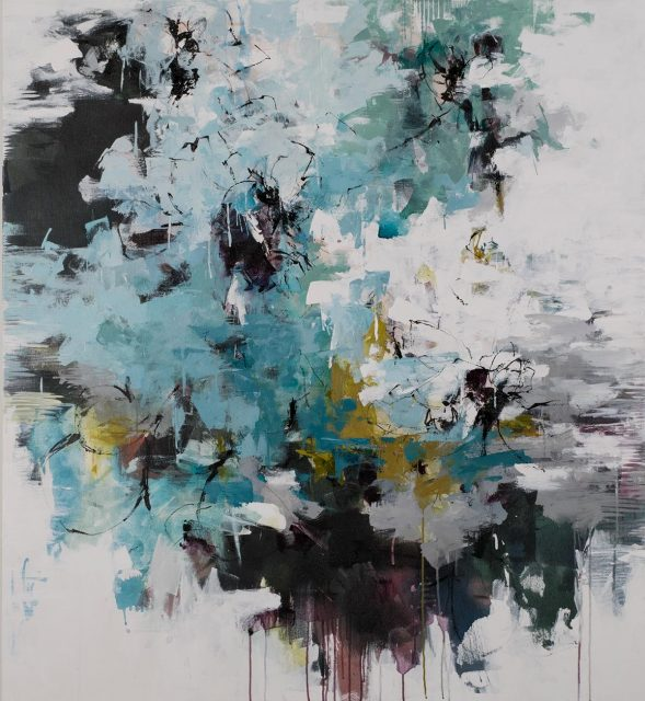 """ink and acrylic on canvas 60"""" x 55"""""""