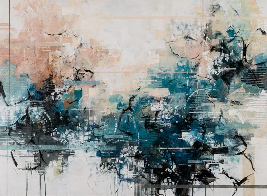 """ink and acrylic on canvas 48"""" x 65"""""""